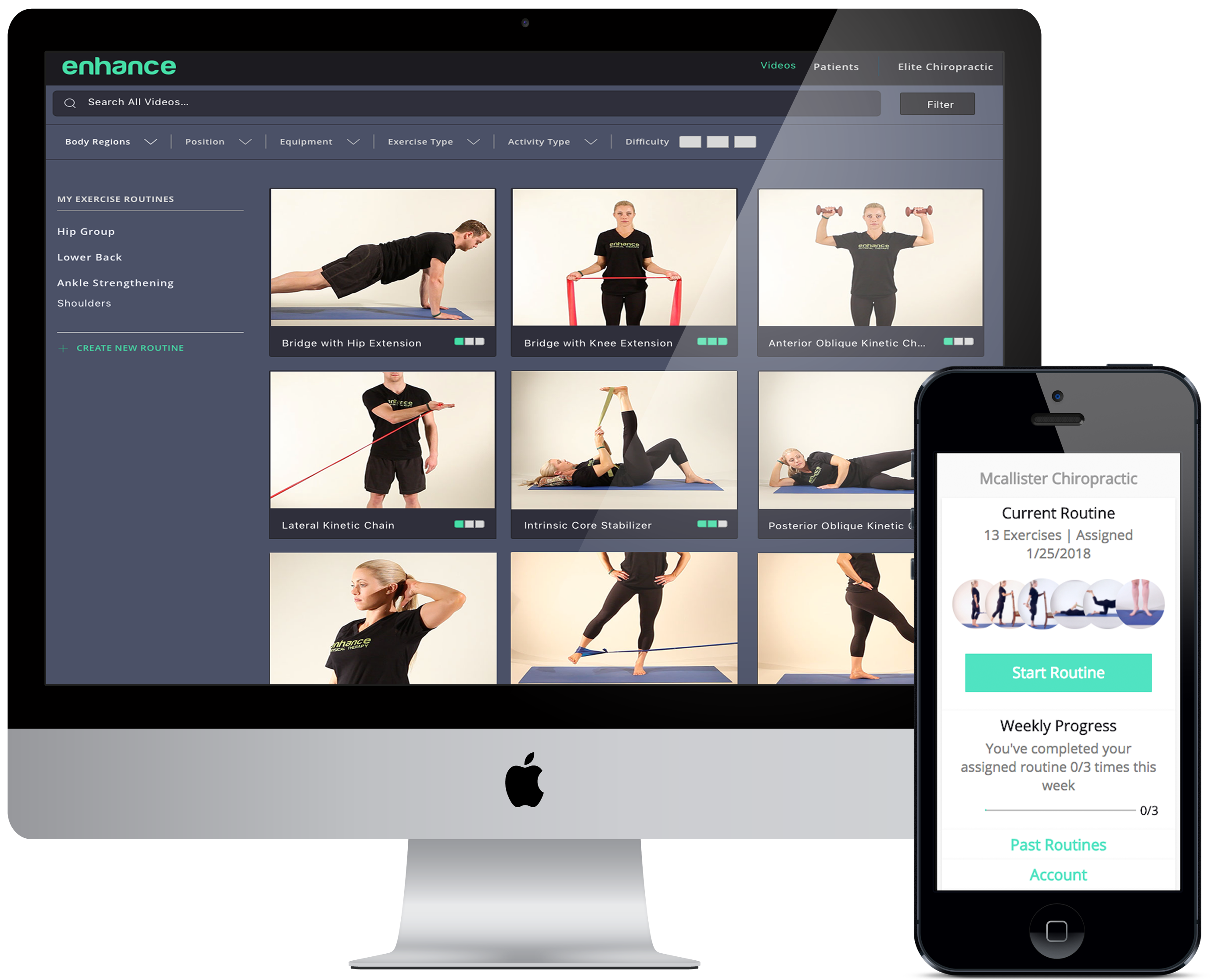 Enhance Therapy Screens